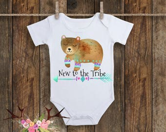 Boho Bear Baby, Baby Girl, Trendy Baby, Hipster Baby, New to the Tribe