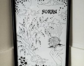 SORRY*** Tattoo/ Illustration/ Art Print