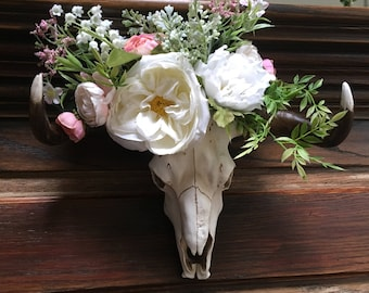 Skull with Floral Crown