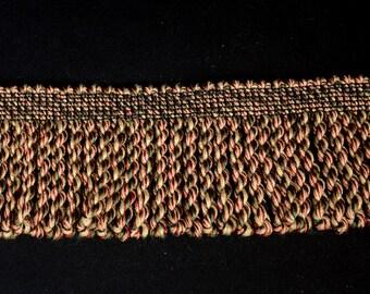 3.25 inch Multi Color Bullion Trim Fabric