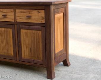 Reclaimed Wood Sideboard Chest Rustic Console Walnut Sideboard Farmhouse Cabinet Solid Wood Huntboard Solid Wood Hutch