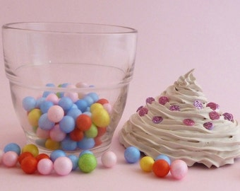 Glass Trinket box ,Cupcake Trinket box , Candy dish, Candy Jar
