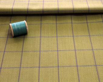 Optional fabric for waistcoat yellow checked cashmere