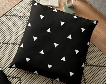 Black & White Triangles Pillow - Customized Throw Pillow - Decorative Pillow - Choose Color Pillow - Decorative cushion  - geometric pillow