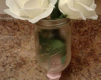 Romantic shabby chic vase