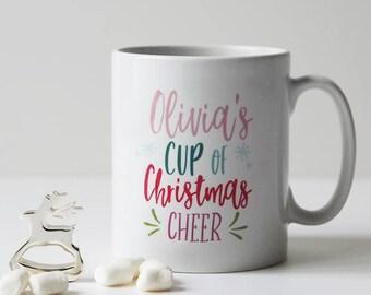 Cup of Christmas Cheer Mug - Personalised Christmas Mug - Christmas Eve Box Gift - Christmas Mug - Custom Christmas Mug Gift
