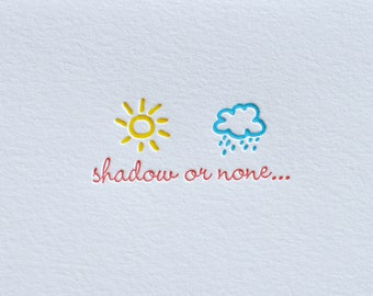 Shadow or None Letterpress Card & Envelope