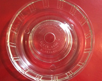 Queen Anne Glasbake Geletin Mold/McKee Glass Company/Culinary Antique/Queen-Anne Geletin Mold/Glasbake/Clear Glass Mold/Queen-Anne Glasbake