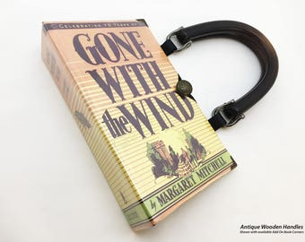 Gone With The Wind Recycled Book Purse - Scarlett O Hara Book Clutch - Southern Belle Book Bag - Gone With The Wind Book Clutch