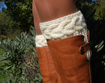 Knit Boot Cuffs, Boot Toppers, Boot Sock, Gaiters, Knitted Womens Boot Cuffs, Hand knit Leg warmer, Stocking, Gaiter, Boots Socks