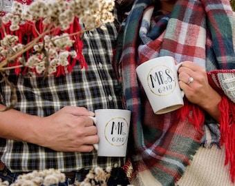 Personalized Mr. & Mrs. Coffee Mugs