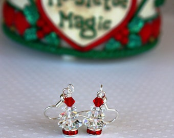 Christmas Tree Earrings Christmas Earrings Christmas Jewelry Holiday Jewelry Holiday Earrings Festive Earrings Tree Earrings Mom Gift 019