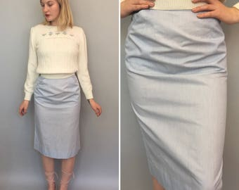 Xs 1950s baby blue wiggle skirt