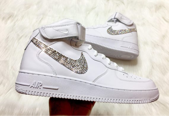 Buy 241156 Nike Air Force 1 Men Grey White Shoes