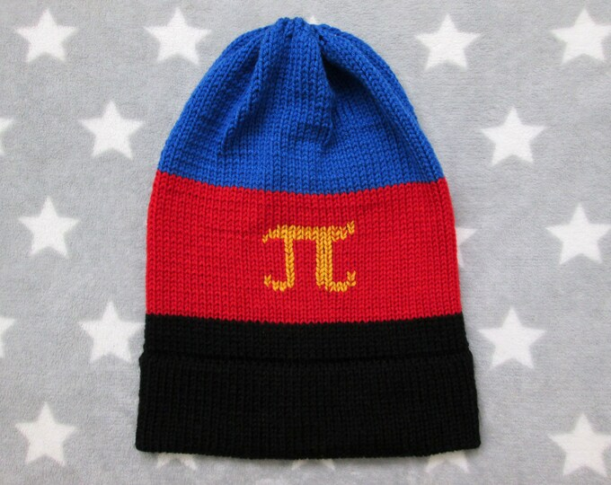 Knit Pride Hat - Polyamory Pride - Slouchy Beanie