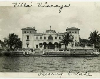 "Vintage Photo ""Vizcaya Estate - Deering Estate"" Snapshot Antique Black White Photograph Found Ephemera Vernacular Interior Design Mood - 27"