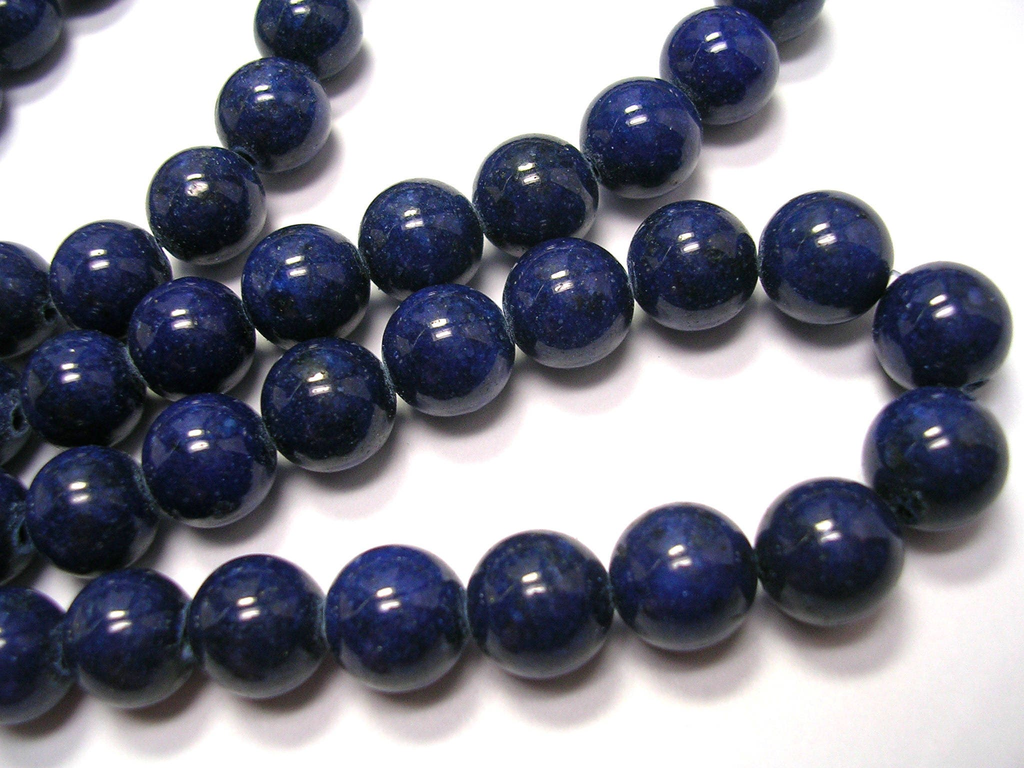 coloured rosary s blue natural gemstone beads le navy eye cat with silver product