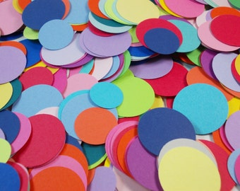 Party Confetti, Rainbow Circle Confetti, Mixed Colors, Party Decoration, Birthday Party, 220 Ct., Table Decor