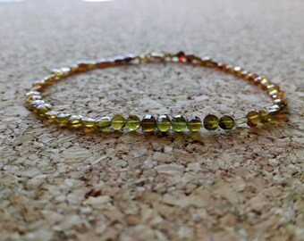 garnet bracelet, grossularia garnet bracelet beads, minimalist.
