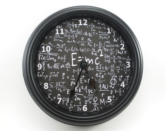 "MATH Physics SCIENCE ""E=mc2"" Wall Clock Math/Physics/Science/Teacher's CLOCK"