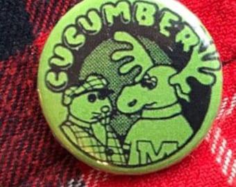 Cucumber Club Pinback Button