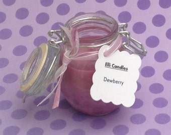 Handmade dewberry scented candles. Our customers love these globe jar candles, we're sure you will too!