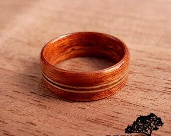 Holzring Mahagoni und Eschenholz, Men's wood ring, Women's wood ring, wood jewelry, Bentwood ring, wood wedding ring, wood engagement ring