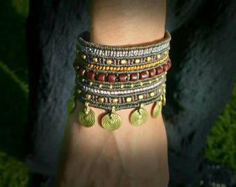 Tribal macramé bracelet