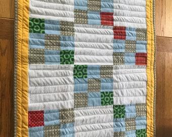 Irish Chain nine patch quilt