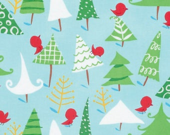 Snow Birds - Merry Christmas by David Walker from Free Spirit - Merry Christmas Fabrics - Fabric by the Yard - David Walker Fabrics - Cotton