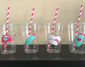 Baking party cups, Baking Birthday Party, Cooking Party Cups, Cooking Birthday Party Cups, Little Chef Party Cups
