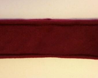 Burgundy Fleece Headband