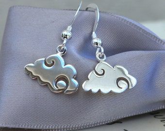 Cloud earrings tiny size All Sterling Silver