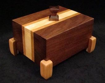 Walnut Desk Box, Keepsake Box, Jewelry Box, Heirloom Box