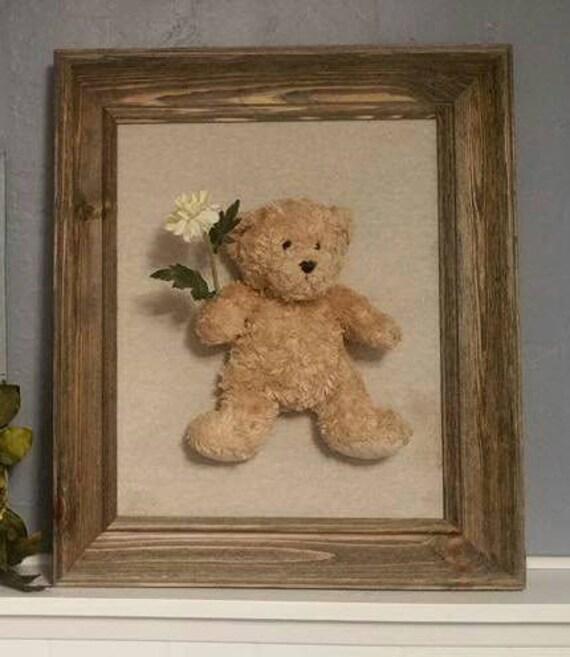 3D Teddy bear framed art