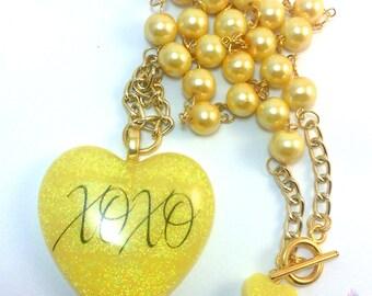 Sweetheart <3 XOXO Necklace