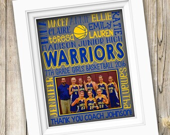 Basketball Gifts Basketball Coach Gift Basketball Team Gift Personalized Basketball Girls Basketball Team Printable Basketball Subway Art