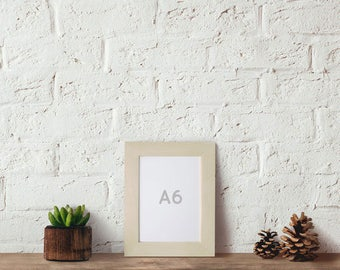 A6 Size Natural Unfinished Picture Frame, International Size 10.5 cm x 14.8 cm, Table Setting Display, Art frames, Craft picture frame