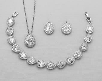 Bridal jewelry set Etsy