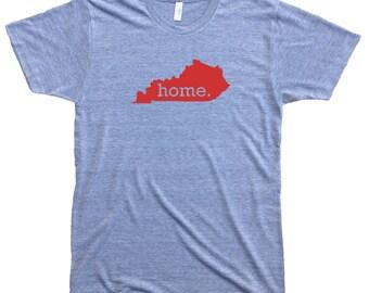 Homeland Tees Men's Kentucky Home T-Shirt RED LOGO