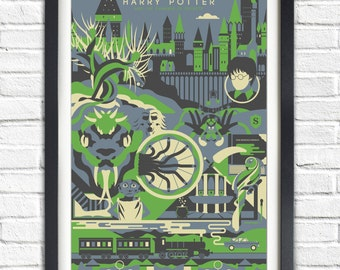Harry Potter - 2 - The Chamber of Secrets - 19x13 Poster