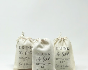 "4""x6"" Hangover Kit, Muslin Bags, Custom Muslin Bags, Party Favors, Bachelor Party, Bachelorette Party, Personalized Bags --64542-MB04-610"