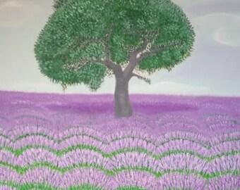Albero Sacro olio su tela cm. 100 x 150