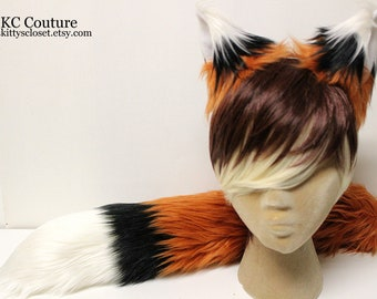 Copper Fox Costume, Fox Tail, Fox Ears