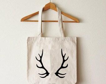 Cotton tote bag deer organic