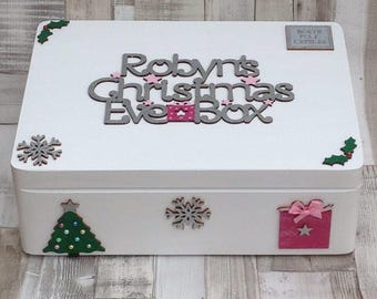 Personalised Medium Christmas Eve Box,Wooden Christmas Eve Box, Personalised Christmas Eve Box