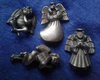13 Pewter Angel Beads in Assorted Styles