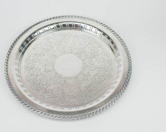 """12"""" Silver decrative tray"""
