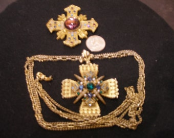 Brooch and Brooch/Pendant with Chain(1034)