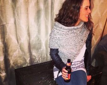 Katniss inspired Cowl / scarf / sweater/ kat cowl/ huntress vest